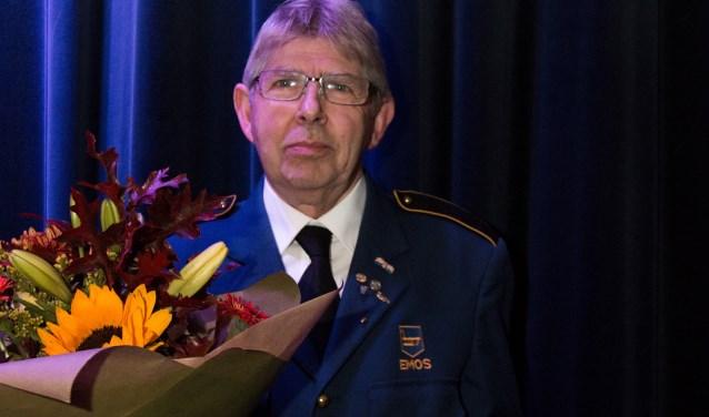 Jubilaris Harrie Bax. Hij is al liefst 60 jaar lid van Emos uit Borkel en Schaft. Dat mocht gevierd worden.