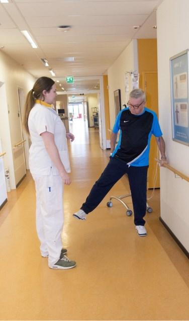 De AnnaBeweegt route bestaat uit simpele oefeningen die de patient kan uitvoeren.