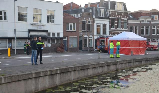 Politie doet onderzoek naar de toedracht van het ongeval aan de Blekerssingel.