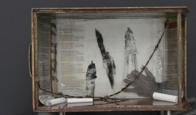 Een van de werken bij Galerie bij de Boeken.