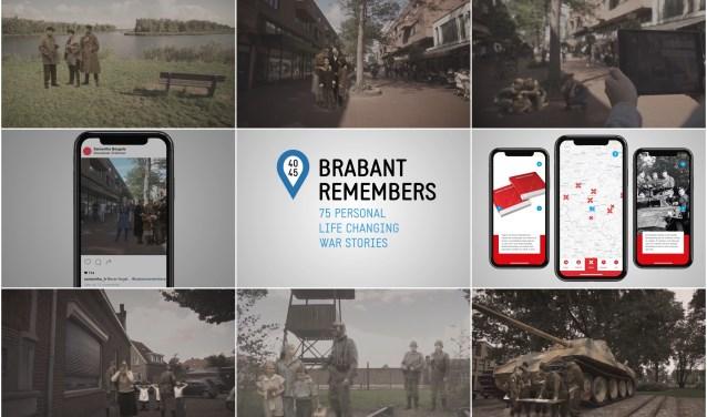De app van Brabant Remembers projecteert de nagespeelde oorlogsituaties op het beeldscherm van je telefoon of tablet. Vervolgens krijg je de keuze; wat ga je doen?  Zo blijven de oorlogsverhalen bewaard.