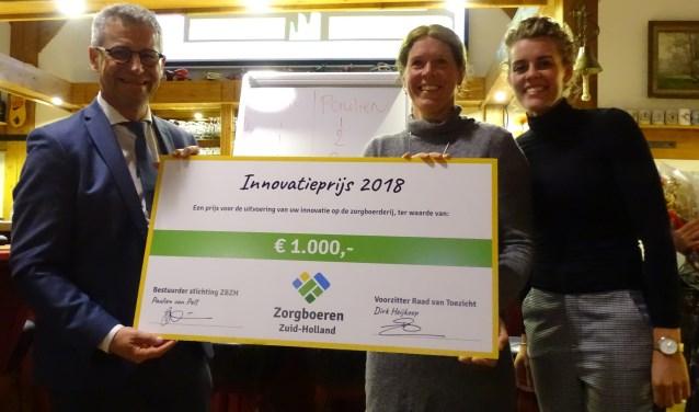 Dirk Heijkoop (links), Leonie Rietveld (midden), Paulien van Pelt (rechts). (Foto: Privé)