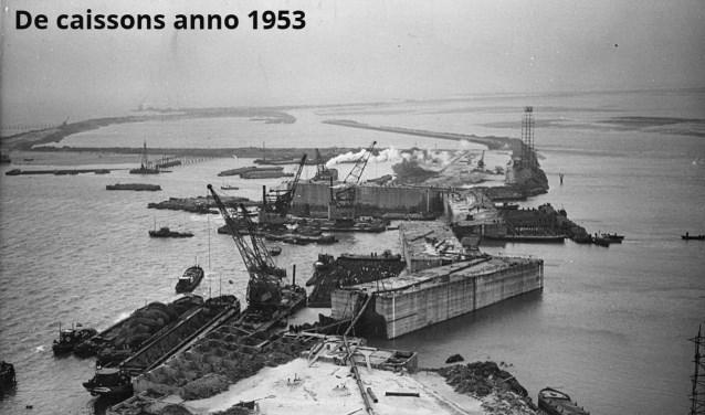 De Caissons anno 1953. FOTO: Watersnoodmuseum