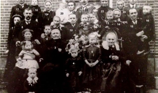Deze week stuurt de Historische Kring Hellendoorn-Nijverdal een ruim 100 jaar oude foto in, van de familie Vloedgraven uit Haarle.