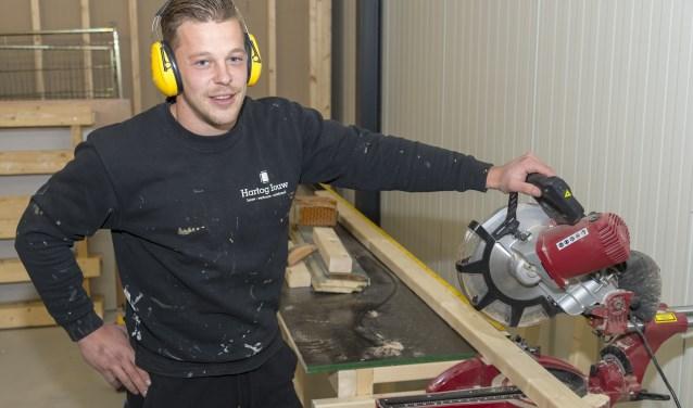 Philippe den Hartog werkt niet alleen hard tussen de lijnen. (Foto: Foto: Wijntjesfotografie.nl)