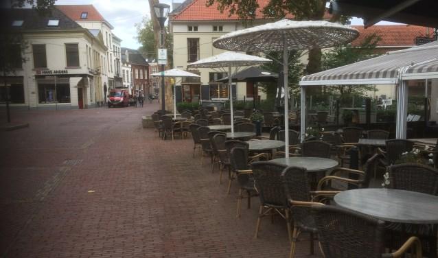 Klimaattafeltjes in de binnenstad.