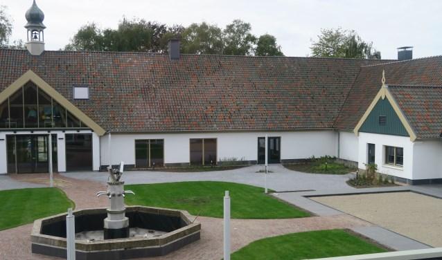 De nieuwe binnentuin van De Voorste Venne waar onder andere de Jeu de Boulers van Hunenhof gebruik van gaan maken.