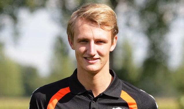Lars Dekker beloonde zijn basisplaats met de 1-0 en een assist als rechtsbuiten. Foto: R.K.S.V. Rijssen.
