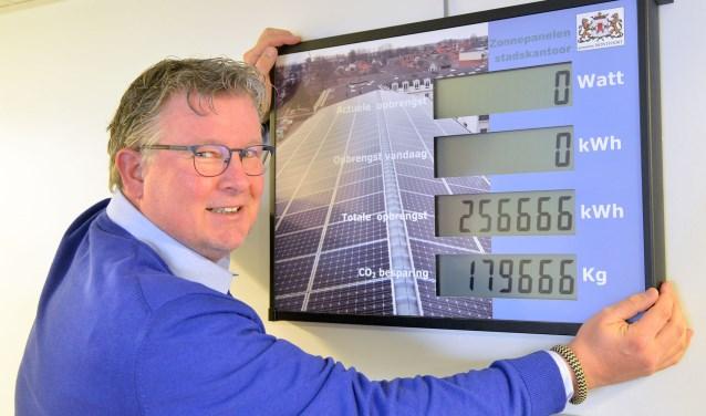 Wethouder Jocko Rensen vraagt iedereen om donderdagavond het We-Energy-Game te komen spelen (Foto: Paul van den Dungen)