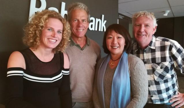 Lionne Korthouwer, Tjerk Koopmans, Saskia Verkade en Eric van Merwijk matchen ondernemers met maatschappelijke organisaties.