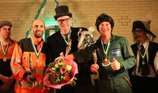 De winnaars uit 2017, vlnr Lambert-Jan Koops, Vincent Nijhof en Daniel Schmitz.