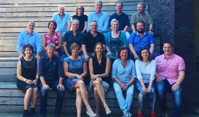Vertegenwoordigers van de deelnemende podia. (Foto Gelderse Podia)
