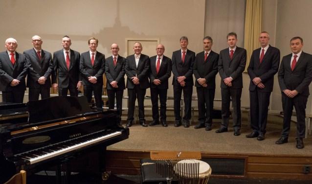 Het Mannenensemble van de Veluwsche Sanghertjes