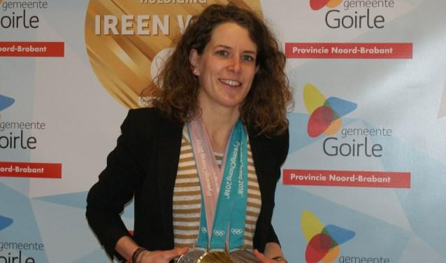 Ireen Wüst won tijdens de Olympische Spelen in Pyeongchang in Zuid-Korea een gouden en twee zilveren medailles.