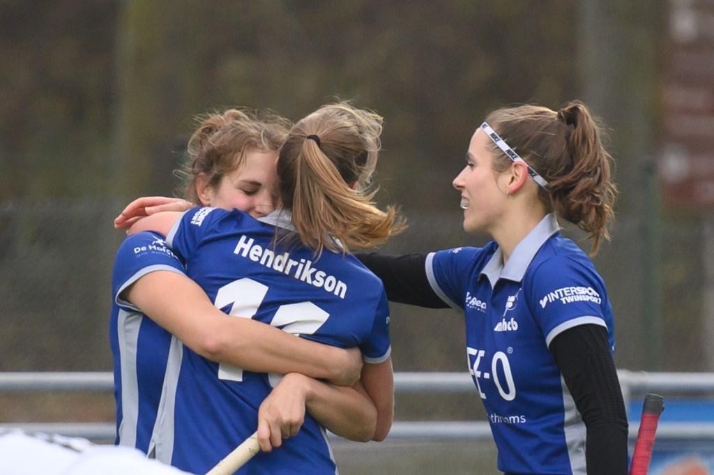 Vreugde na de 2-0 Foto: Wil Kuijpers © Persgroep