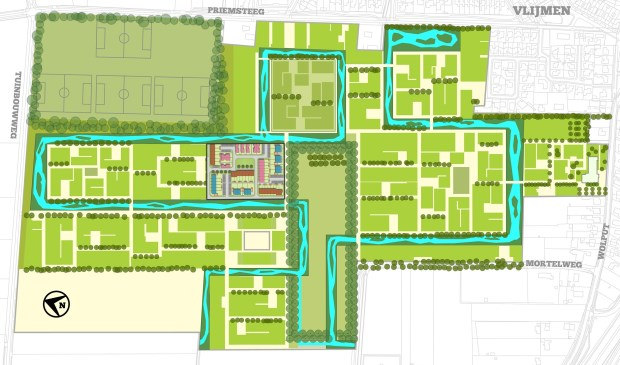 Het is de bedoeling om in totaal zestien woningen te realiseren: acht rijwoningen en acht patiobungalows.