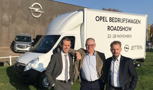 Het bedrijfswagenteam van Jetten is er klaar voor: Dick Jetten, Geert Jansen en Stefan Luijters (v.l.n.r.).