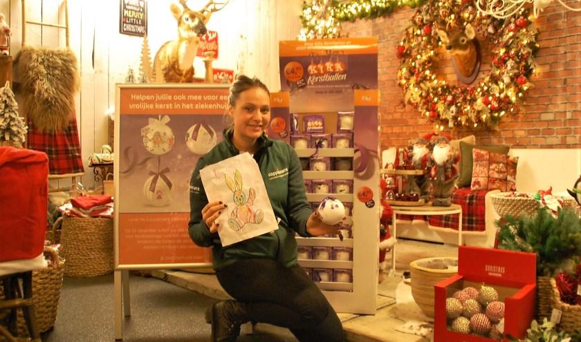 Tuincentrum Coppelmans ondersteunt de kerstballenactie van Kika. Ook leuke tekeningen voor kinderen in het ziekenhuis zijn zeer welkom.