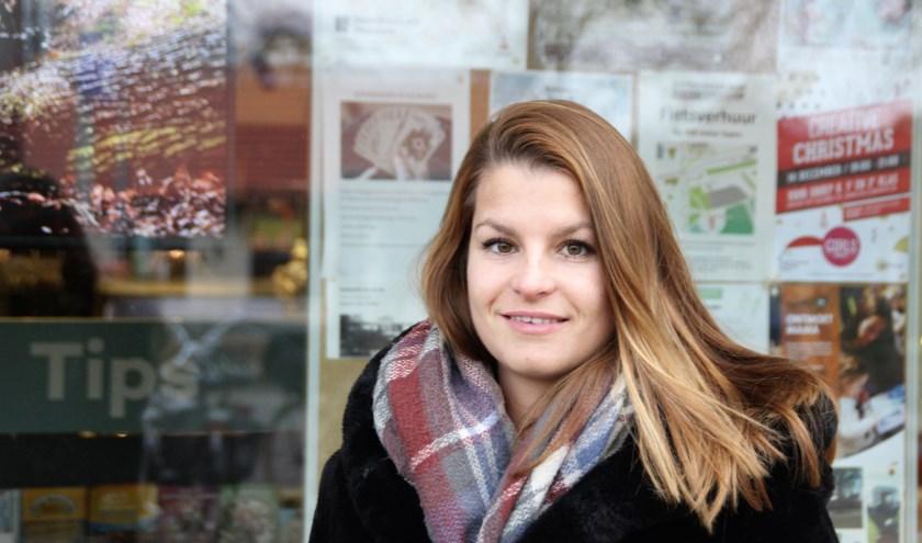 De Nunspeetse Nadia Wentzel is sinds juli evenementenplanner bij Nunspeet uit de Kunst. Foto Dick Baas