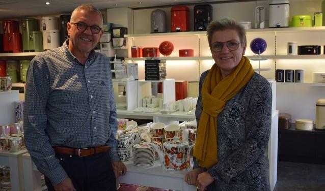 Gerrit Geels en Ada Elings-Geels bij de afdeling Cooking@Home.