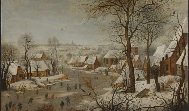 Een heerlijk winterlandschap uit circa 1605 van Pieter Beughel de Jonge.