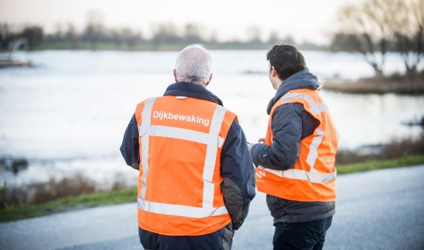 Dijkwachten lopen het hele gebied na, van de Duitse grens tot aan Kinderdijk. (Foto: Cees vd Wal)