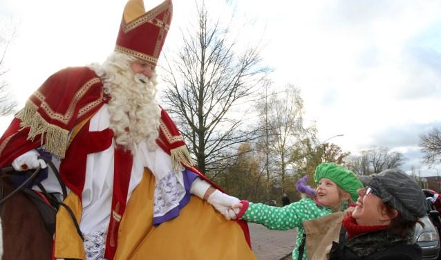 Sinterklaas tijdens een eerdere intocht in Aalst. Foto: Theo van Sambeek.