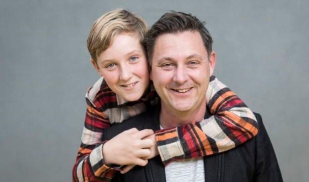 Luc (12) en Jeroen Nieuwenhuis (46) uit Zwolle .