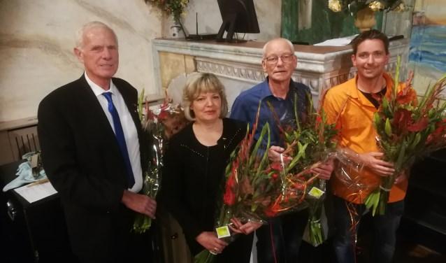 Van links naar rechts: Leo Ouweneel, Josette de Haan, Marius Slingerland en Fabian Mudde.