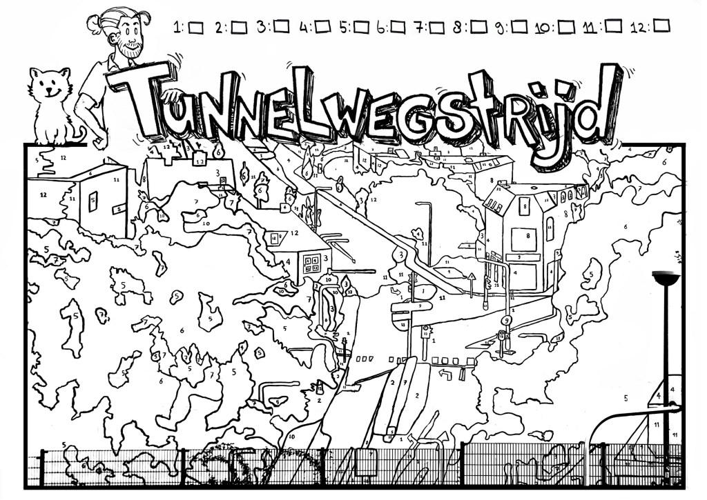 Kleurplaten Met Cijfers Erin.Geef Kleur Aan Kunstwerk Aan De Tunnelweg De Brug Nijmegen