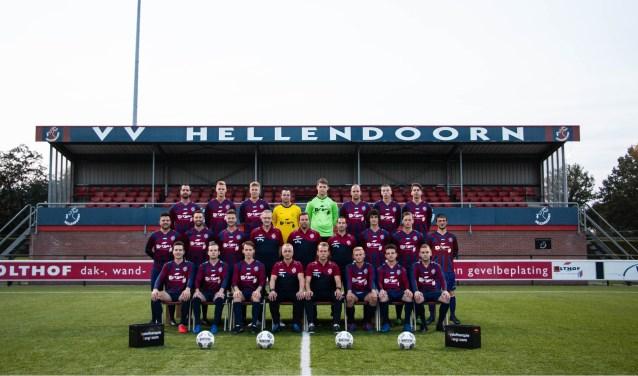 De mannen van v.v. Hellendoorn.