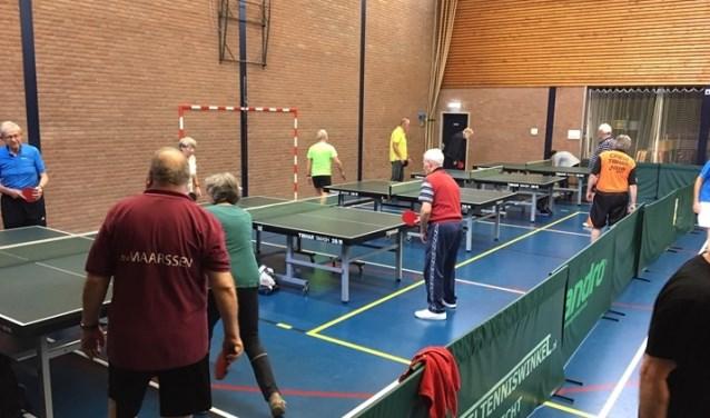 Tafeltennisvereniging Maarssen houdt op woensdag een tafeltennismiddag voor deelnemers vanaf 55 jaar. Foto: TTVM