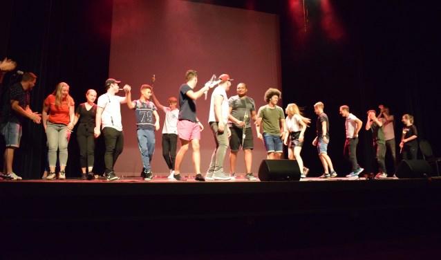 Het eerste seizoen van Talent Inc. is afgesloten met een optreden waarin jongeren hun talenten hebben laten zien aan een groot publiek. Foto: Tom Vissers