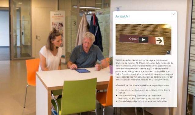 Beeld uit de softwareapplicatie Medify die als proef in Meander MC wordt gebruikt. (Foto: Jeroen Vliegenberg)