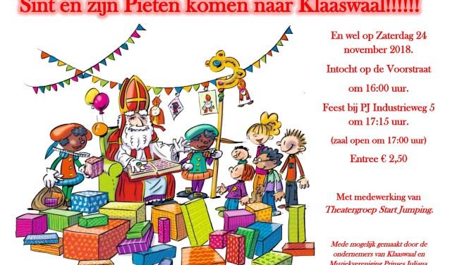poster intocht Sinterklaas Klaaswaal