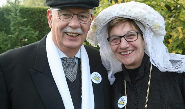 Boeren Bruidspaar Marja van Greunsven en Tjeu van der Leegte.  Foto: Bart van de Weijer.