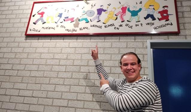 DJ Melvin is trots dat hij mee mag doen met het feestconcert, samen met Sint Caecilia.