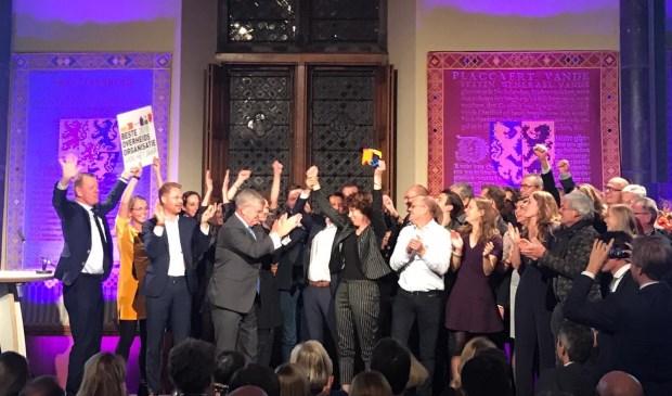 In de Ridderzaal in Den Haag nam Aa en Maas de prijs in ontvangst.