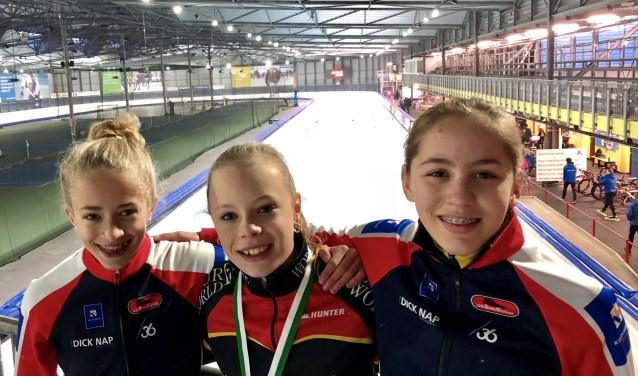 Anna, Isa en Jasmijn reden sterk in Groningen.
