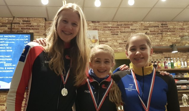 EIJV'ers Marit, Anna en Jasmijn reden een goede wedstrijd in Nijmegen. (Foto: Kim Hiddink)