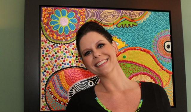 Bianca Leusink voor een 'Bianca Leusink'. Ze wijdt anderen in in de geheimen van haar kunst.