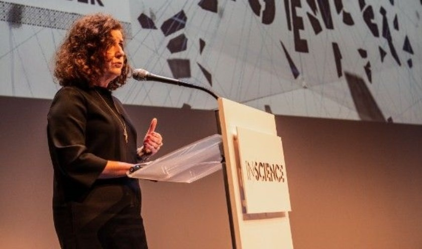 Minister Van Engelshoven tijdens de opening van InScience 2018. (Fotograaf: Jimmy Israël)