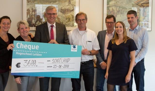 De Boxmeerse Stichting Lalibela werd onlangs verrast met een ruime gift van de Hogeschool Leiden (HSL).