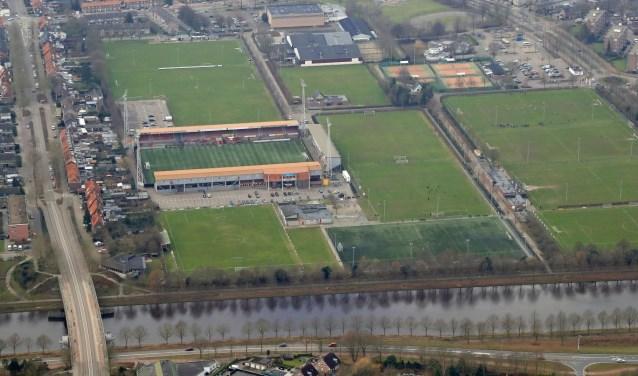 Sportpark de Braak waar het nieuwe zwembad komt. Foto: Ronald Otter.