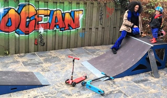 Nadat Ocean van de eerste schrik was bekomen, overzag hij tevreden zijn eigen skate-yard, mét professionele tag. Natuurlijk vanaf het hoogste punt.