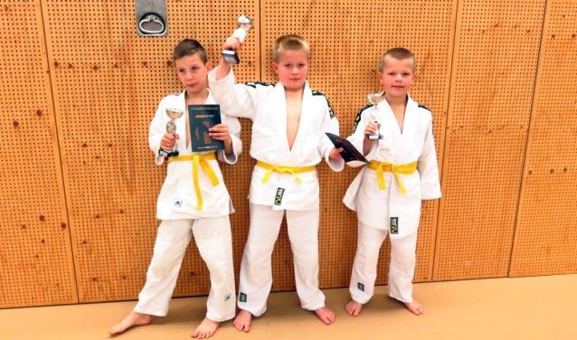 Op de foto van links naar rechts Rick Hengeveld, Jason Kleinwillink en Dyllan Kleinwillink.