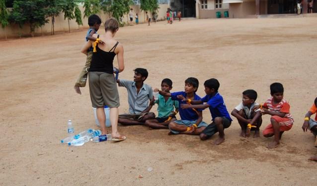Straatkinderen in India