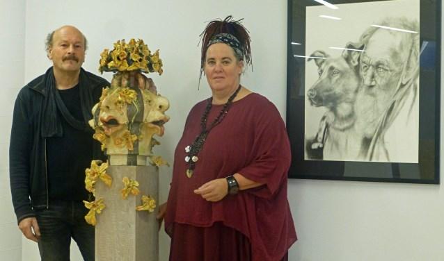 Hilda Haselberg en André te Dorsthorst exposeren de komende maanden in het gemeentehuis.