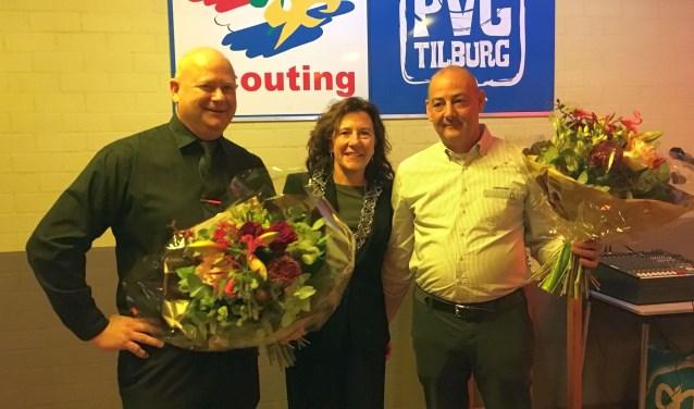 Ben Wijnans en Michiel Haans ontvingen afgelopen zaterdag de Gouden Speld van Marcelle Hendrickx  in het scoutinggebouw van PVG aan de Generaal de Wetstraat 68 in Tilburg.