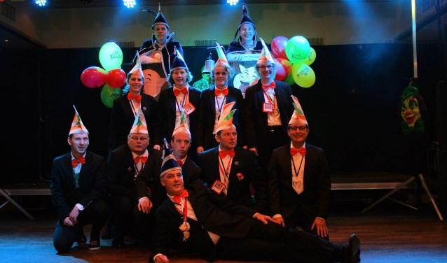 De Raad van Elf van de 55-jarige carnavalsvereniging De Knorrepotten.